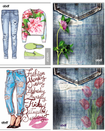 jeans-flowers